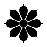 Black flower icon Stock Images