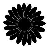 Black flower icon Stock Image