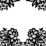 Black flower lace ornament. Stock Images