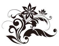 Black flower pattern Stock Photo