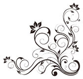 Black flower pattern Royalty Free Stock Images
