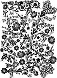 Black flower pattern on white Royalty Free Stock Photos