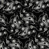 Black flower seamless pattern Stock Photos
