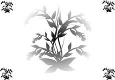 Black flower on white. Black silhouette of flower on white background Royalty Free Stock Photo