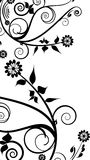 Black flowers decoration Royalty Free Stock Photography