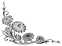Black flowers Stock Image