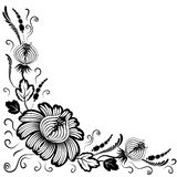 Black flowers on a white background Royalty Free Stock Images