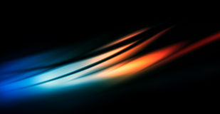 Black flows over the sunset background Stock Photography