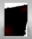 Black flyer. Editable flyer or poster design Stock Illustration