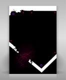 Black flyer. Editable flyer or poster design Royalty Free Illustration