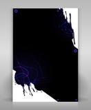 Black flyer. Grunge black flyer or poster design Royalty Free Illustration