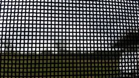 Black Flyscreen square grids Stock Photography