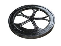 Black Flywheel. Royalty Free Stock Image