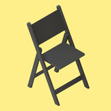 Black foldable isometric stool vector. Fold chair isolated. black foldable isometric stool realistic vector illustration icon. Camping chair. Icon for web and Stock Image