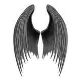 Black folded angel wings. Royalty Free Stock Image