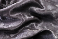 Black shiny organza background. Stock Photography