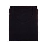 Black folded tshirt isolated Stock Images