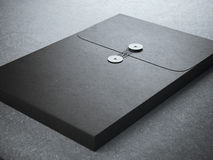Black folder with paper texture Royalty Free Stock Photo