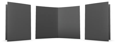 Black Folder. Folder stationery mock up. Clipping path included Stock Photos