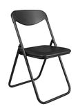 Black folding chair Stock Images
