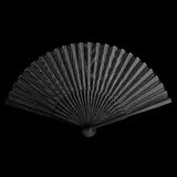 Black folding fan Stock Photography