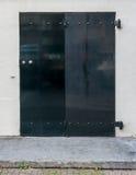Black Folding House Door in Amsterdam Royalty Free Stock Photo