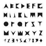 Black font with numbers. Vector alphabet in minimalist style Royalty Free Stock Photography
