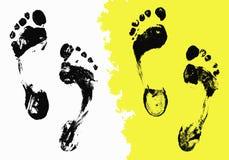Black Foot Imprints Royalty Free Stock Photo