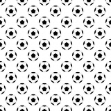 Black Football Ball on White Background. Vector Illustration. Royalty Free Stock Photo