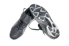 Black Football Boots Royalty Free Stock Photo