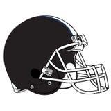 Black football helmet Royalty Free Stock Photos