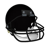 Black football helmet. Isolated over white, 3d render Stock Images