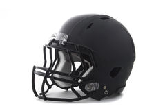 Black Football Helmet on white Royalty Free Stock Photography