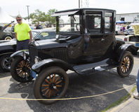 Black Ford Model T Car Side View Royalty Free Stock Images