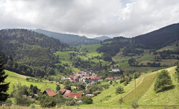 The black forest. Panoramic view of the village in the black forest Stock Photos