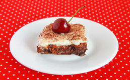 Black Forest brownies Royalty Free Stock Photography