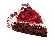 Black forest cake. Piece of black forest cake Stock Photo