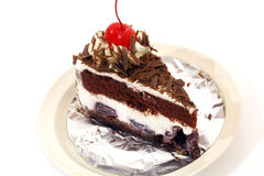 Black forest cake. And eat it Royalty Free Stock Photography
