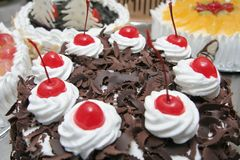 Black forest cake Royalty Free Stock Photos