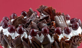 Black forest cake. With cherry topping Royalty Free Stock Photography