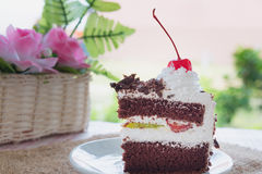Black forest cake decorated Stock Photos