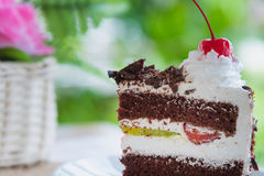 Black forest cake decorated Stock Image