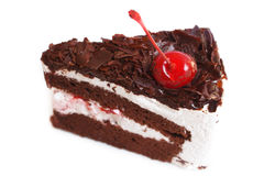 Black forest cake. Stock Photo