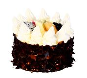 Black Forest Cake. Isolated on a white background Royalty Free Stock Images