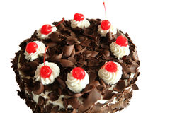 Black forest cake portion Royalty Free Stock Image