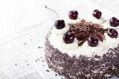Black forest cake, Schwarzwald pie, dark chocolate and cherry dessert. Stock Photos