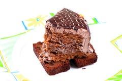 Black forest cake slice Stock Photography
