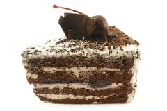 Black Forest Cake Slice Stock Image