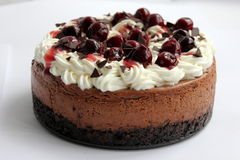 Black forest cheesecake Stock Photography