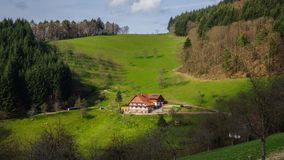 Black forest country house royalty free stock photography